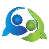 Logo d'hommes d'affaires d'équipe   Photographie stock