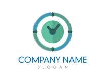 Logo d'horloge Images stock