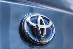 Logo d'hybride de Toyota Photos stock