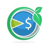 Logo d'icône avec le concept du développement de la croissance d'impôts illustration libre de droits
