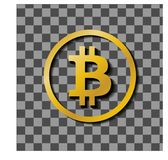 Logo d'icône de vecteur pour la crypto devise de bitcoin Image stock