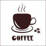 Logo d'icône de tasse de café Photo libre de droits