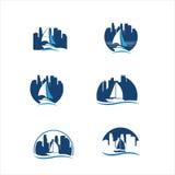 Logo d'icône de yacht Photos libres de droits