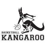 Logo 2 d'illustration de basket-ball de kangourou Image libre de droits