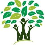 Logo d'illustration de vecteur d'arbre généalogique illustration stock