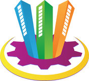 Logo d'immeubles Photographie stock