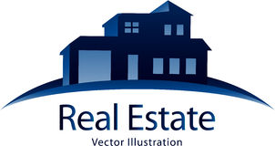Logo d'immobiliers Photo stock
