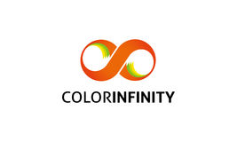 Logo d'infini de couleur Illustration Libre de Droits