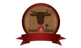 Logo d'insigne de ferme illustration de vecteur