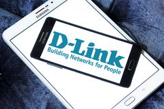 D-Link Corporation logo. Logo of D-Link Corporation on samsung mobile. D-Link Corporation is a Taiwanese multinational networking equipment manufacturing Royalty Free Stock Images