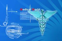 logo 3d médical Image stock