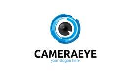 Logo d'oeil d'appareil-photo Images libres de droits