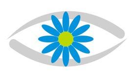 logo d'oeil de clinique de 3 soins Photographie stock libre de droits