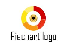 Logo d'oeil de diagramme en secteurs Image libre de droits