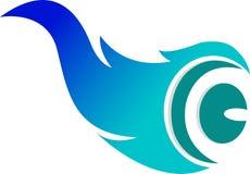 Logo d'oeil de flamme Images stock
