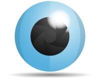 Logo d'oeil en verre Images stock