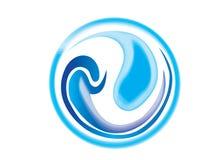 Logo d'ondes d'eau de la terre Images libres de droits