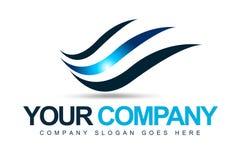 Logo d'ondes de vent Image libre de droits