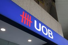 Logo d'outre-mer uni de banque d'UOB image libre de droits
