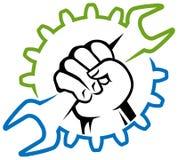 Logo d'ouvrier Photographie stock libre de droits