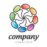Logo d'ovales Images libres de droits