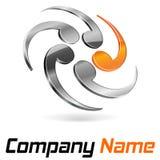 Logo 3d som brännmärker abstrakt begrepp Royaltyfri Fotografi