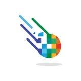 Logo d'une chute de comète de couleur Image libre de droits