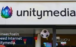 Logo d'UNITYMEDIA Images stock