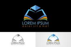 Logo d'université de livre photographie stock