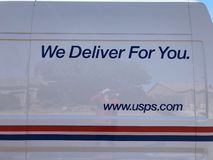 Logo d'USPS photo stock