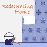 Logo, das nach Hause neu streicht Stockbild