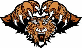 Logo de attaque subit de mascotte de tigre Images stock