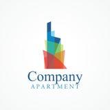 Logo de bâtiment d'arc-en-ciel Images stock