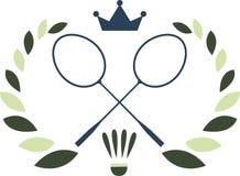 Logo de badminton Images stock