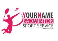 Logo de badminton Photographie stock libre de droits