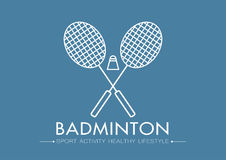 Logo de badminton Photographie stock