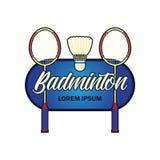 Logo de badminton avec l'espace des textes pour votre slogan/slogan illustration stock