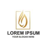 Logo de baisse d'or Images libres de droits