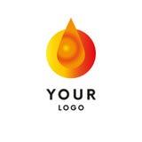 Logo de baisse d'huile logotype Vecteur illustration libre de droits
