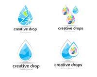 Logo de baisse de l'eau illustration stock