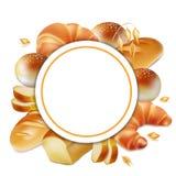 Logo de Baker Vecteur réaliste du label 3d de pain Illustration Libre de Droits