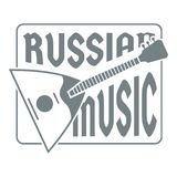 Logo de balalaïka, style gris simple Photographie stock