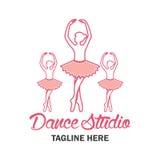 Logo de ballet pour l'école de ballet Illustration de vecteur Photographie stock libre de droits