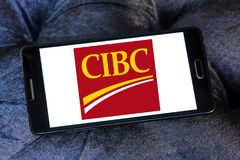 Logo de banque de CIBC Image libre de droits