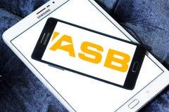 Logo de banque d'ASB images stock