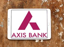 Logo de banque d'axe Photos libres de droits