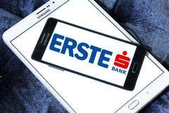 Logo de banque de groupe d'Erste Image stock