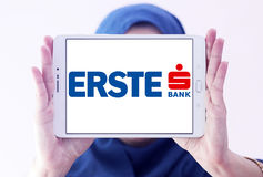 Logo de banque de groupe d'Erste Photo stock