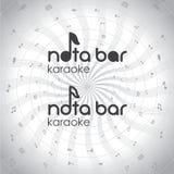 Logo de bar karaoke Images libres de droits