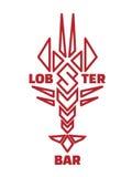 Logo de barre de homard Photos libres de droits